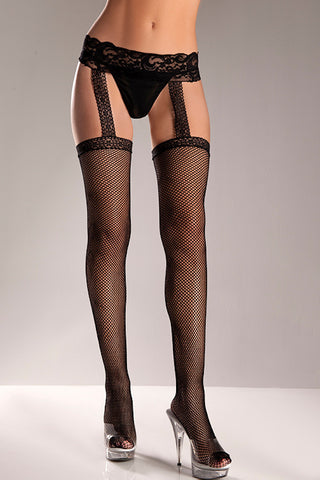 Black Fishnet Garterbelt - Cats Like Us