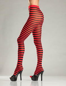 Be Wicked Red and Black Striped Tights for sale at Cats Like Us