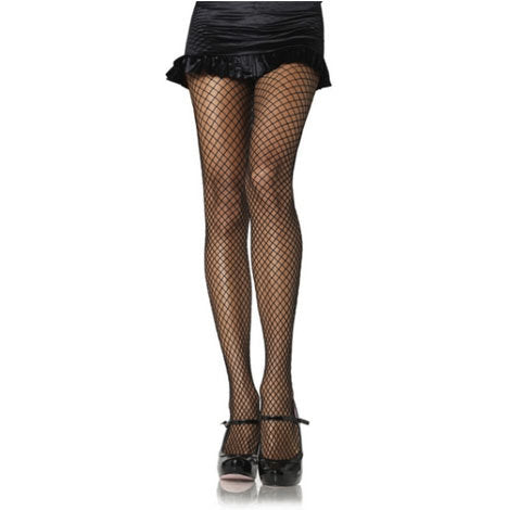 Black Fishnet Industrial Pantyhose by Leg Avenue : Cats Like Us