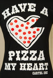 Have a Pizza My Heart T Shirt - Cats Like Us
