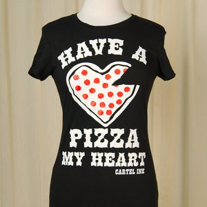 Have a Pizza My Heart T Shirt by Cartel Ink : Cats Like Us