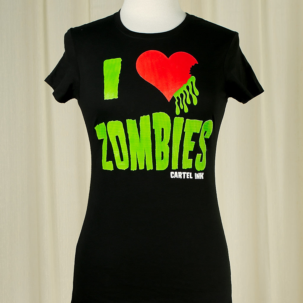 I Heart Zombies T Shirt by Cartel Ink : Cats Like Us