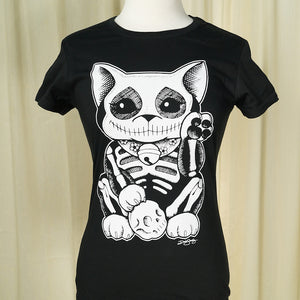 Lucky Muerte Kitty T Shirt - Cats Like Us