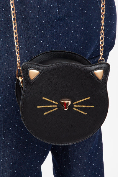 Cat Face Crossbody Bag