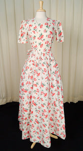 1930s Petunia Floral Gown by Cats Like Us - Cats Like Us