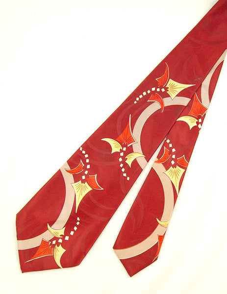 1940s Abstract Dragon Tie - Cats Like Us