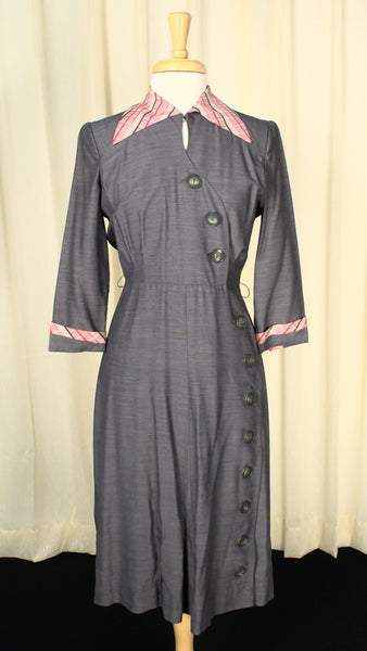 1940s Asymmetrical Wiggle Dress