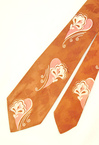 1940s Butterflies & Swirls Tie by Cats Like Us - Cats Like Us