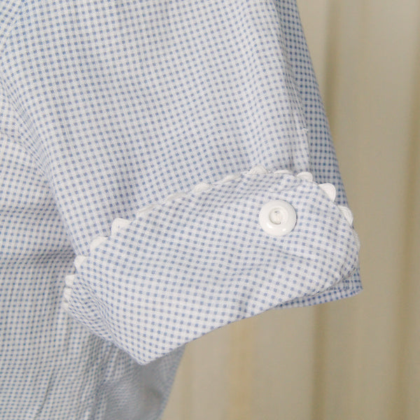 1940s Gingham Shirt Dress by Cats Like Us - Cats Like Us