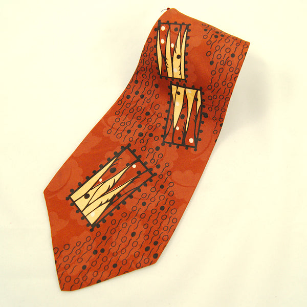 1940s Leaves & Abstract Tie