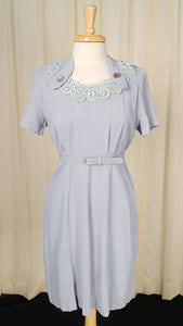 1940s Periwinkle Lace Dress by Cats Like Us - Cats Like Us