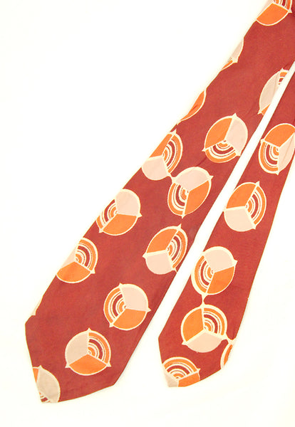 1940s Pie Chart Circle Tie by Cats Like Us - Cats Like Us