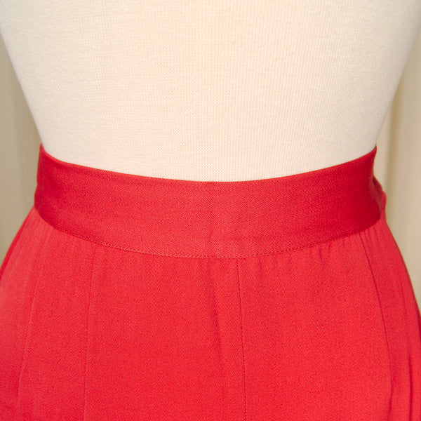 1940s Red Midi Wiggle Skirt