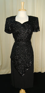 1940s Sweetheart Sequin Dress - Cats Like Us