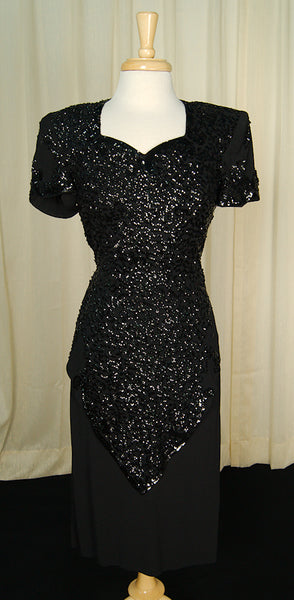 1940s Sweetheart Sequin Dress by Vintage Collection by Cats Like Us - Cats Like Us