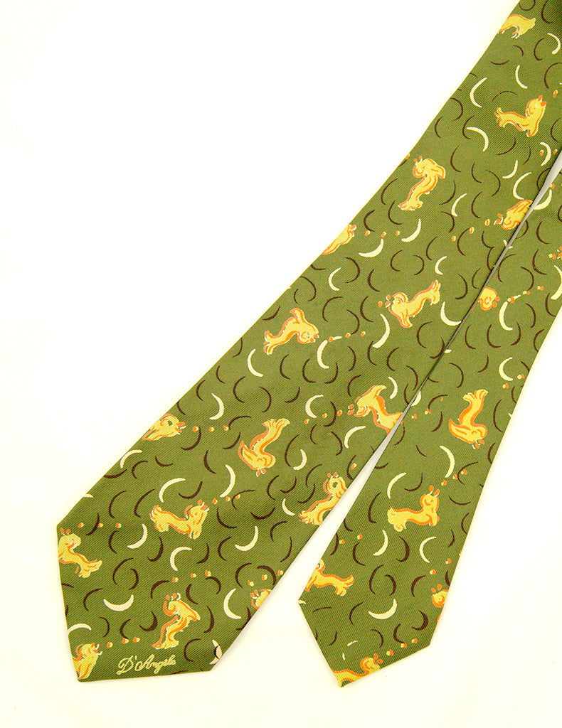 1950s Abstract Fish Tie by Vintage Collection by Cats Like Us - Cats Like Us