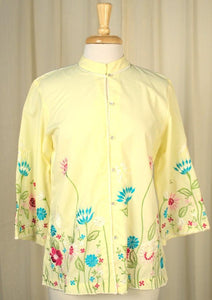1950s Asian Style Floral Tunic - Cats Like Us