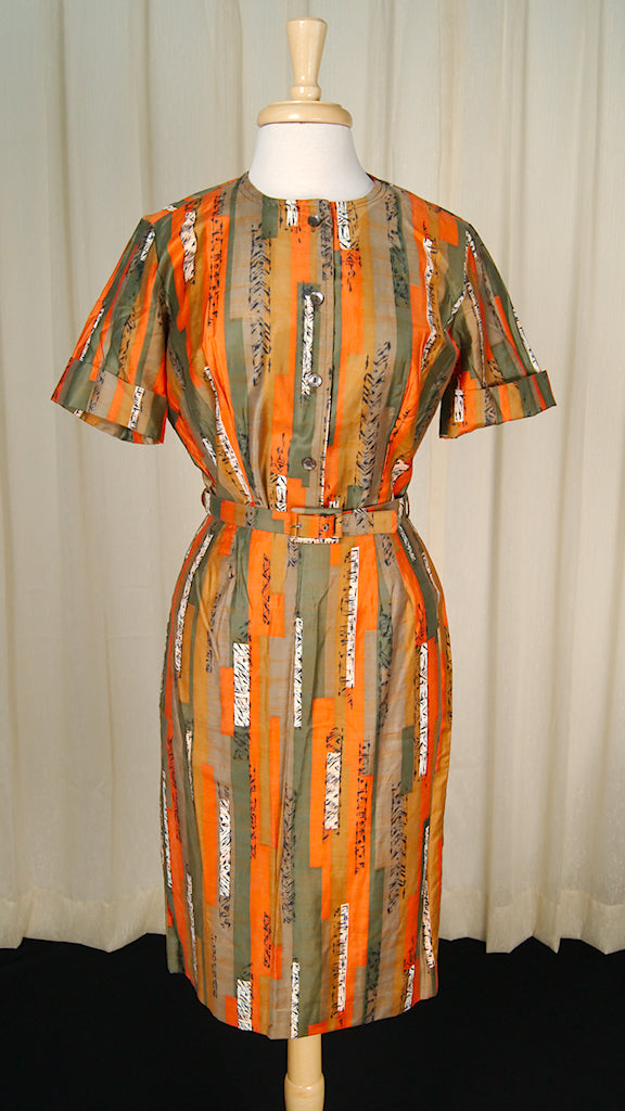 1950s Asian Tiki Skirt Set by Cats Like Us - Cats Like Us