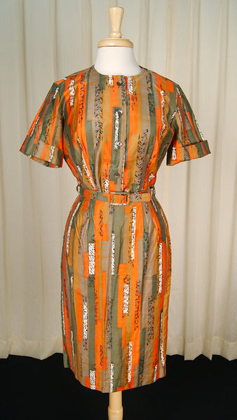 1950s Asian Tiki Skirt Set