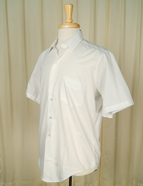 1950s Basic Short S White Shirt by Vintage Collection by Cats Like Us : Cats Like Us