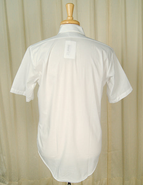 1950s Basic Short S White Shirt by Vintage Collection by Cats Like Us - Cats Like Us
