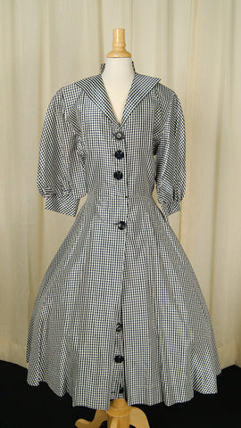 1950s Black & White Check Dress by Cats Like Us : Cats Like Us