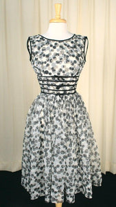 1950s Black & White Swing Dress - Cats Like Us