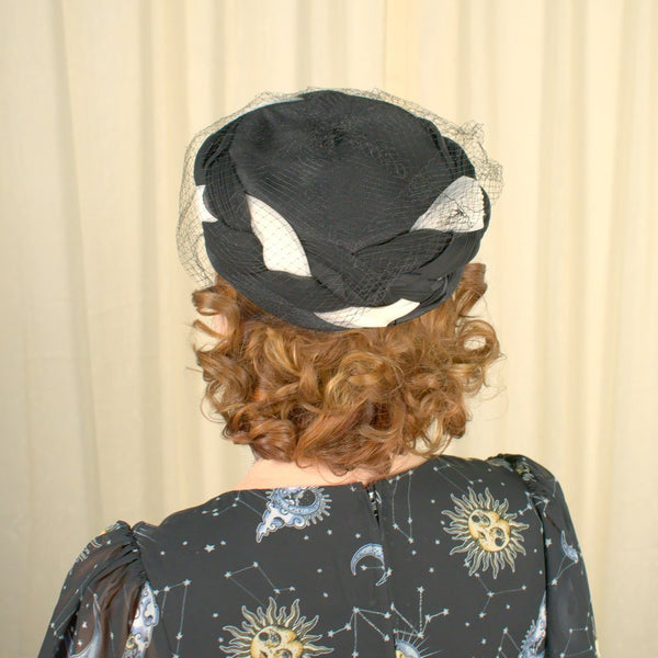 1950s Black Braided Hat - Cats Like Us