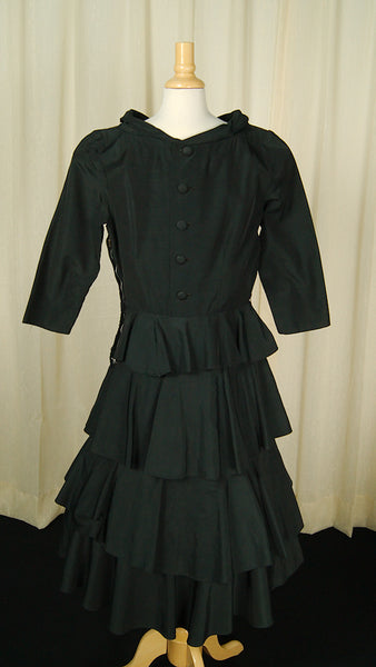 1950s Black Layered Skirt Dress by Cats Like Us : Cats Like Us