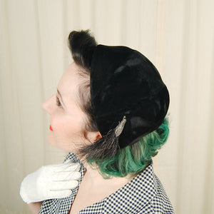 1950s Black Velvet Feather by Cats Like Us - Cats Like Us