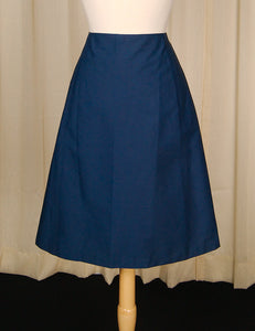 1950s Blue A Line Skirt by Cats Like Us - Cats Like Us