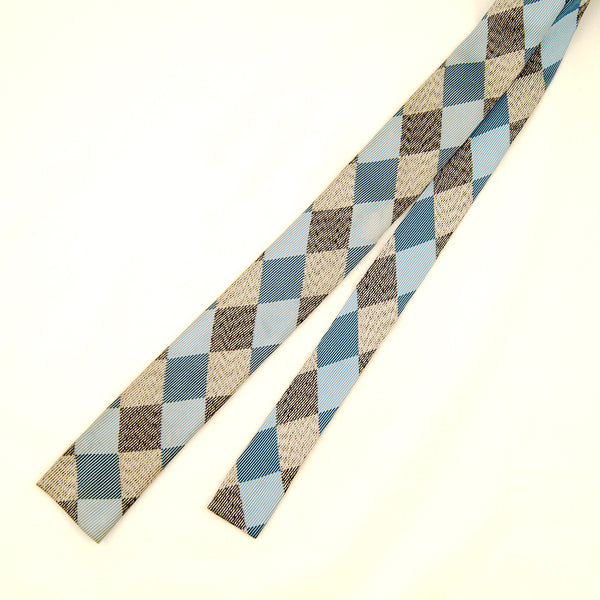 1950s Blue & Gray Harlequin Tie by Vintage Collection by Cats Like Us - Cats Like Us