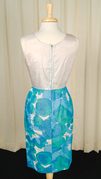 1950s Blue Floral Dress Set by Cats Like Us - Cats Like Us