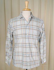 1950s Blue Plaid Loop Shirt by Cats Like Us - Cats Like Us