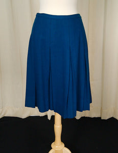 1950s Blue Pleated Skirt - Cats Like Us