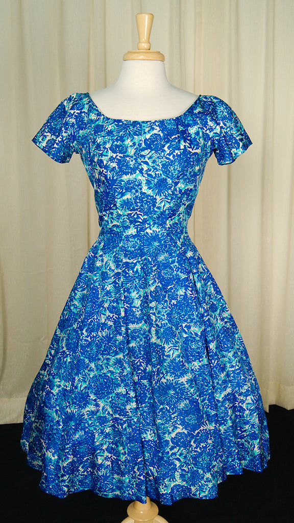 1950s Blue Princess Dress by Vintage Collection by Cats Like Us : Cats Like Us