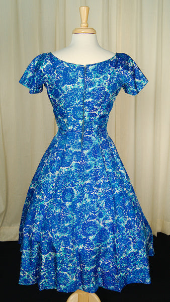 1950s Blue Princess Dress by Vintage Collection by Cats Like Us - Cats Like Us