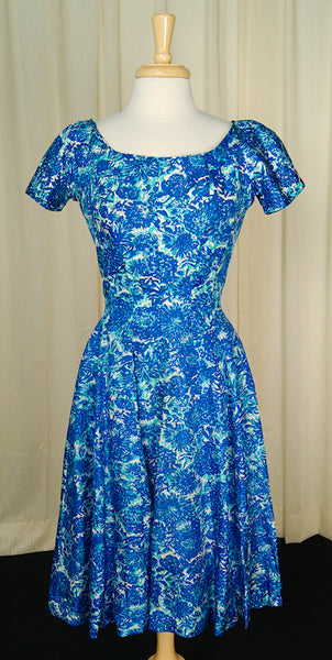 1950s Blue Princess Dress by Cats Like Us : Cats Like Us