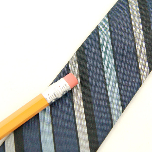 1950s Blue Striped Skinny Tie by Cats Like Us - Cats Like Us