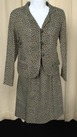 1950s Bluebell Cotton Suit