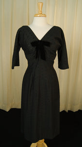 1950s Bombshell Eyelet Dress - Cats Like Us