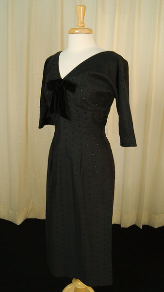 1950s Bombshell Eyelet Dress by Vintage Collection by Cats Like Us - Cats Like Us