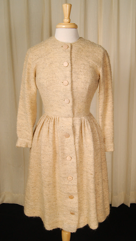 1950s Boucle Shirt Dress by Vintage Collection by Cats Like Us - Cats Like Us