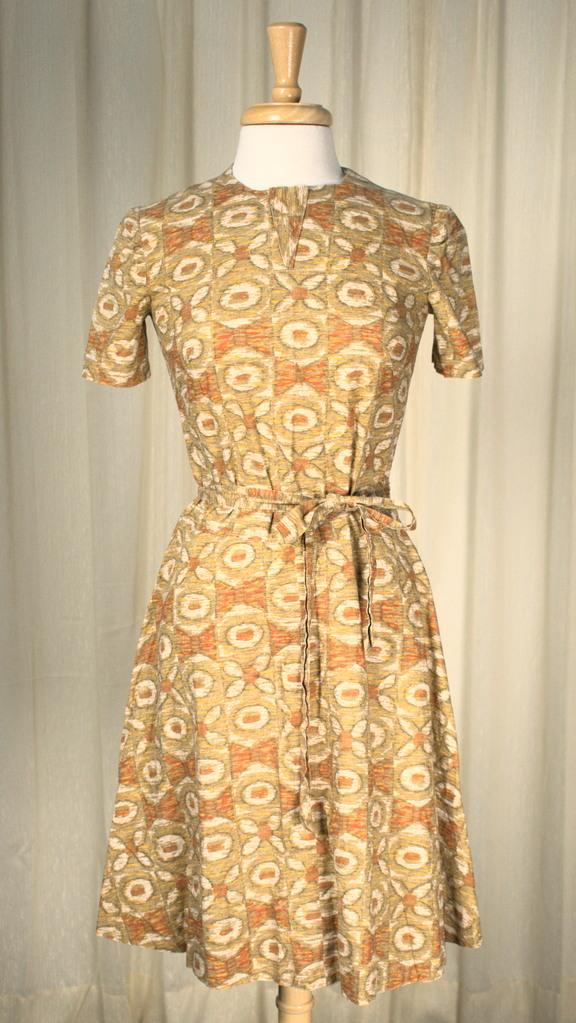 1950s Bow Tie Print Dress