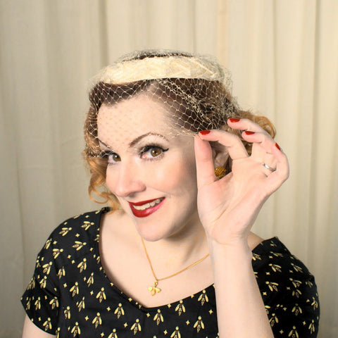 1950s Braided Raffia Whimsy Hat