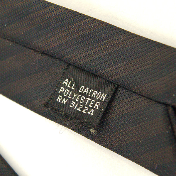 1950s Brn & Blk Thin Stripe Tie by Cats Like Us - Cats Like Us
