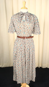 1950s Brown Vintage Atomic Shirt Dress
