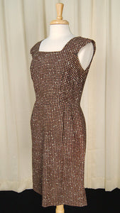 1950s Brown Houndstooth Suit