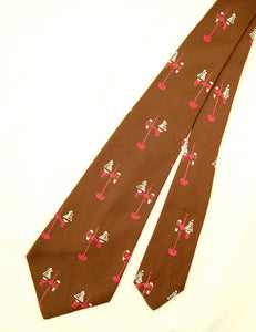 1950s Brown Lamp Tie by Cats Like Us - Vintage Collection : Cats Like Us