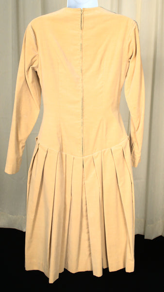 1950s Butterscotch Velvet Dress
